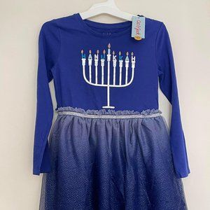 NWT- Cat & Jack Hanukkah Dress Sz. 7-8